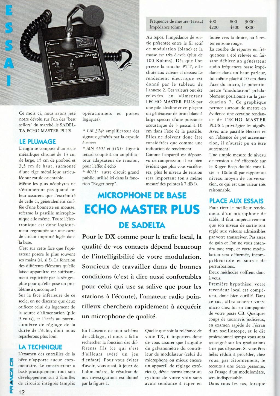 fixe - Sadelta Echo Master Plus (Micro de table) Chora602