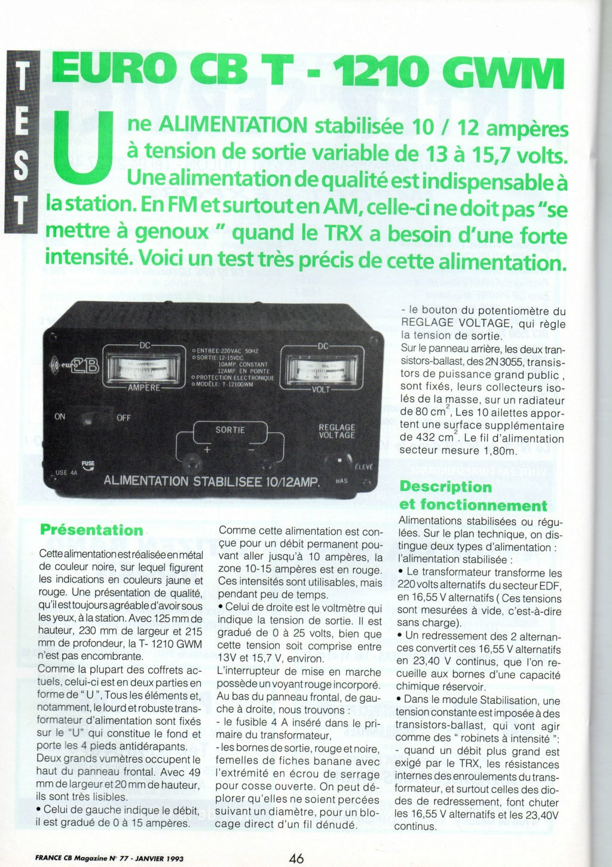 EuroCB 10-12 Amp (Alimentation 230v/13,8v) Img11714