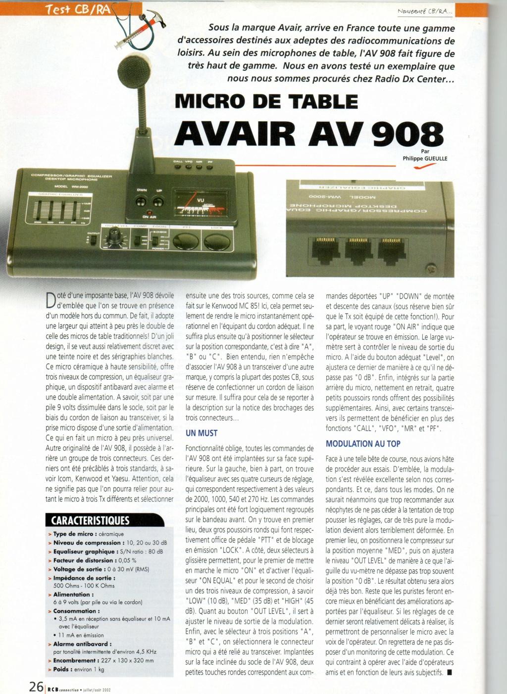 fixe - AV908 (Micro de table avec équalizer) Img34611