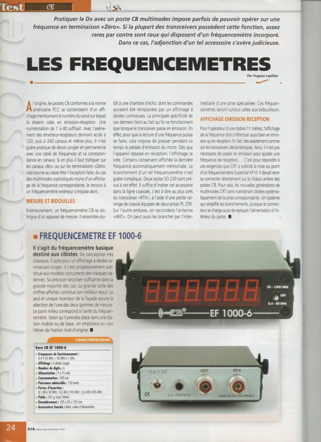 EF - EuroCB EF 1000-6 (Fréquencemètre) Scanim10