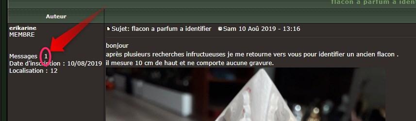 flacon a parfum a identifier 2019-026