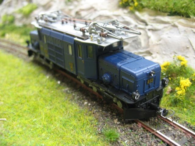 """Superbe loco du RhB """" la crocodile"""" du Glacier Express Ma_sci17"""