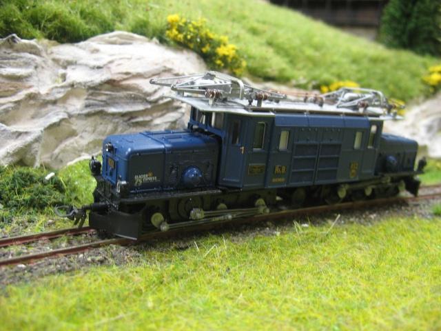 """Superbe loco du RhB """" la crocodile"""" du Glacier Express Ma_sci18"""