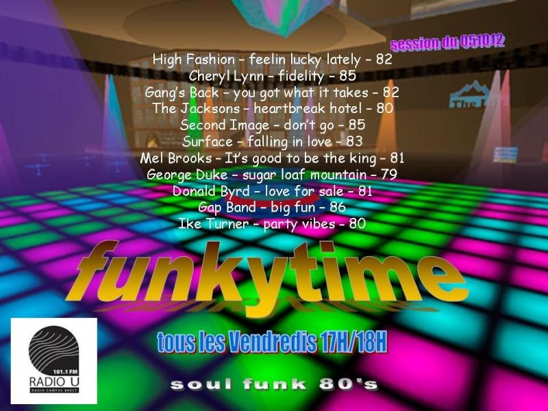 émission FUNKYTIME sur RADIO U 101.1 Funkyt15