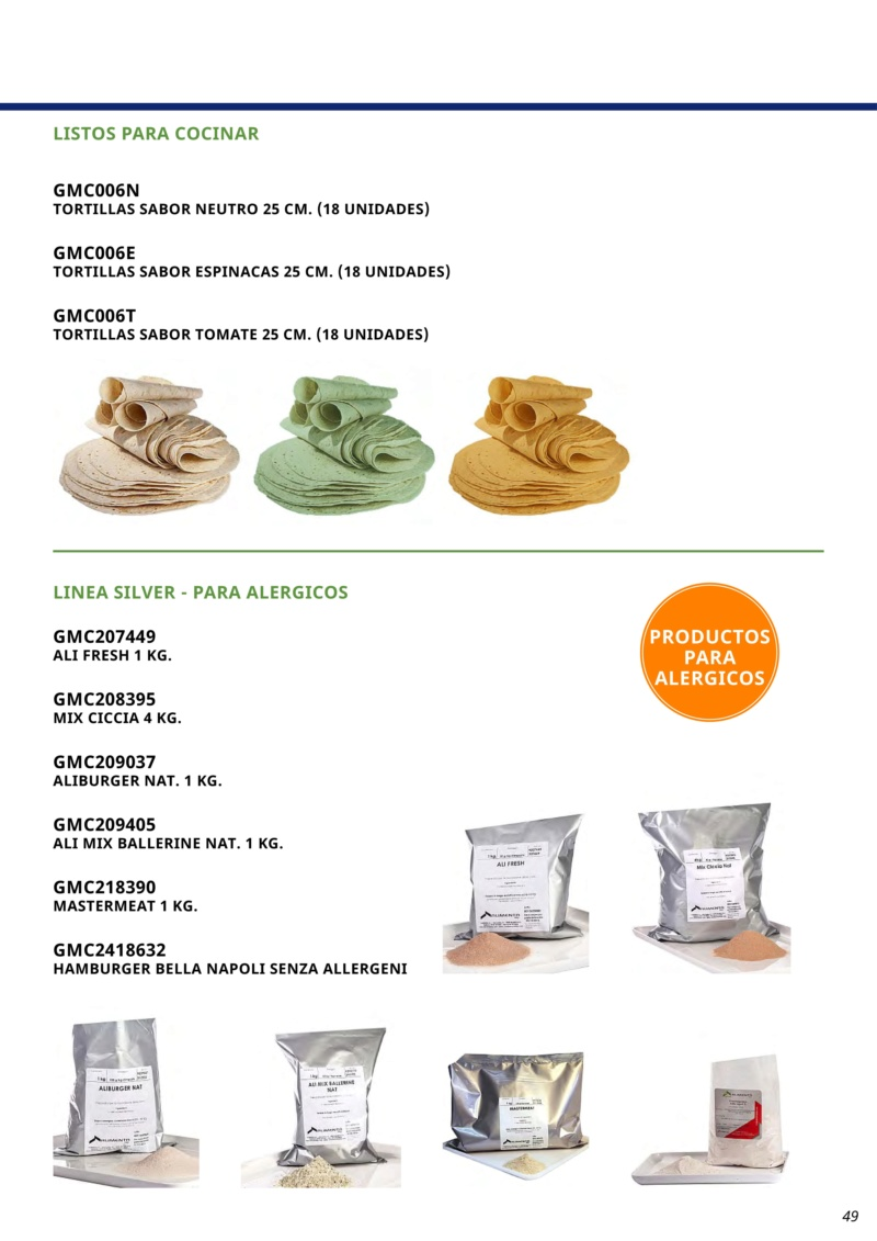 ALIMENTA ITALIA / distribuidor para toda España /Marinadas  panes  tortitas de sabores etc Page4910