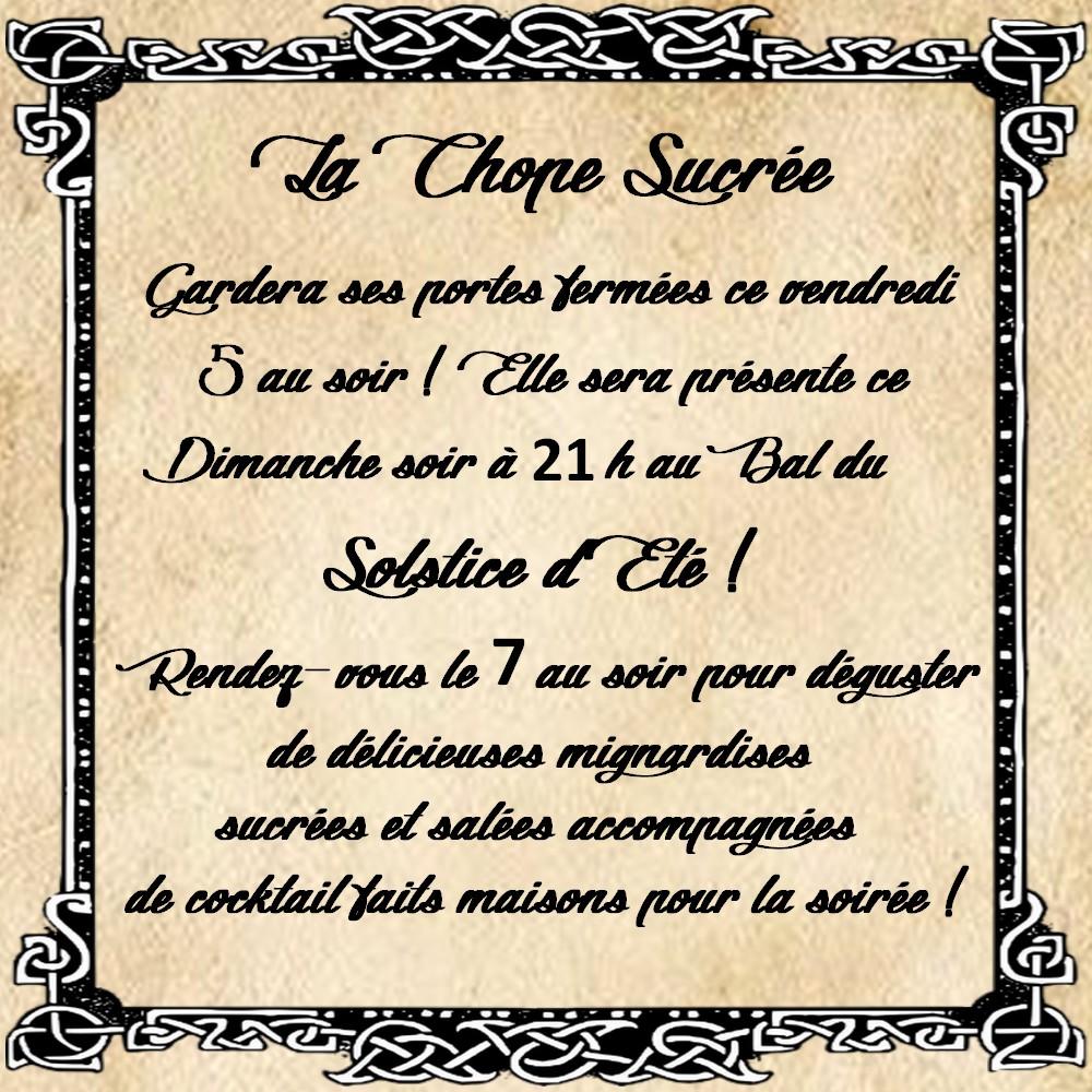~ La Chope Sucrée - Les Annonces ~ Affich16