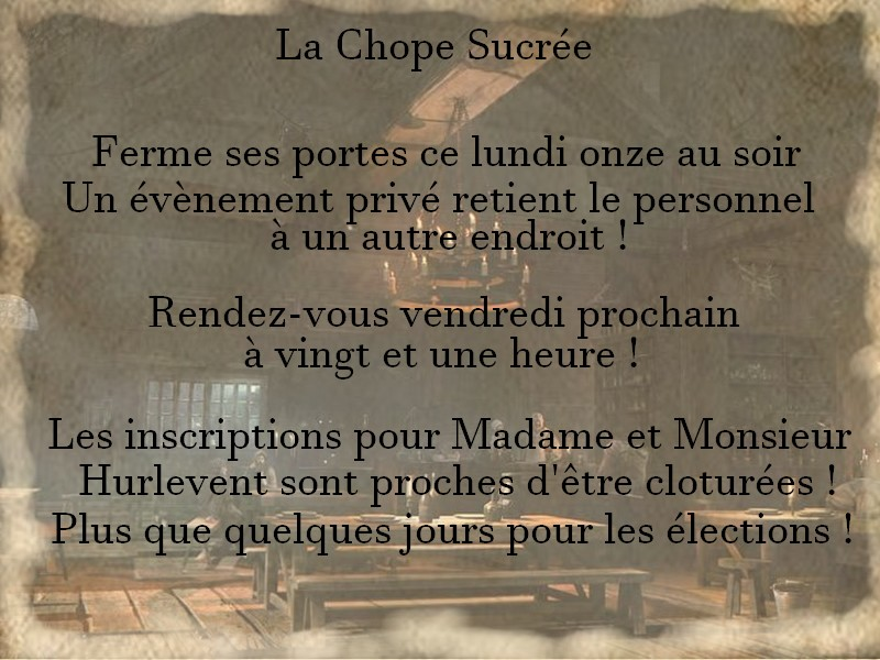 ~ La Chope Sucrée - Les Annonces ~ Fermet11