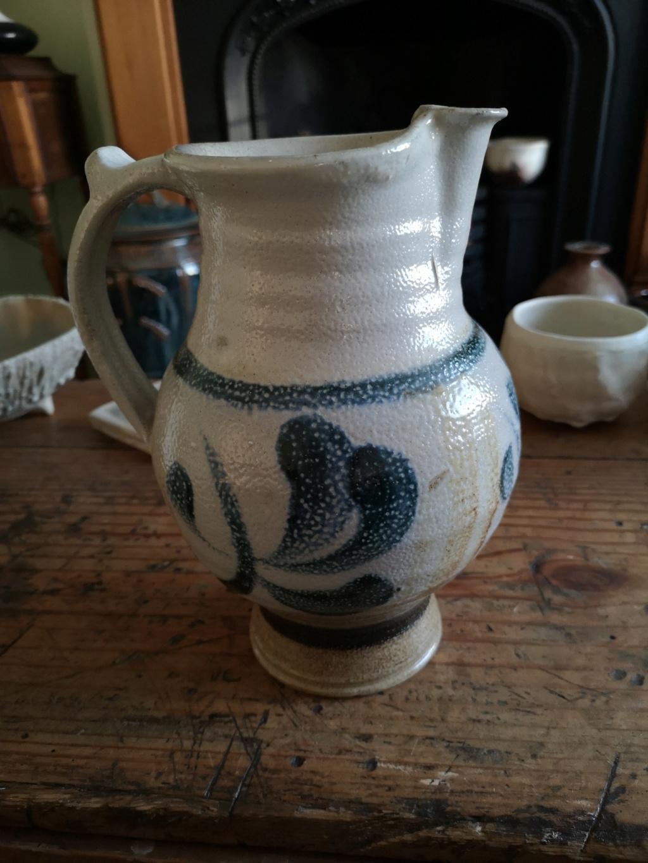 Large salt glazed stoneware Jug Img_2019