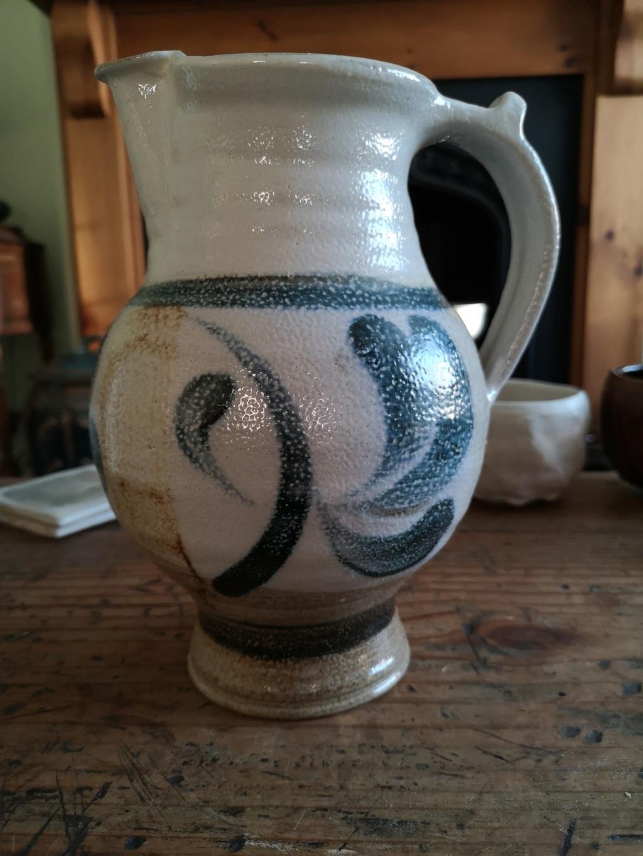 Large salt glazed stoneware Jug Img_2020