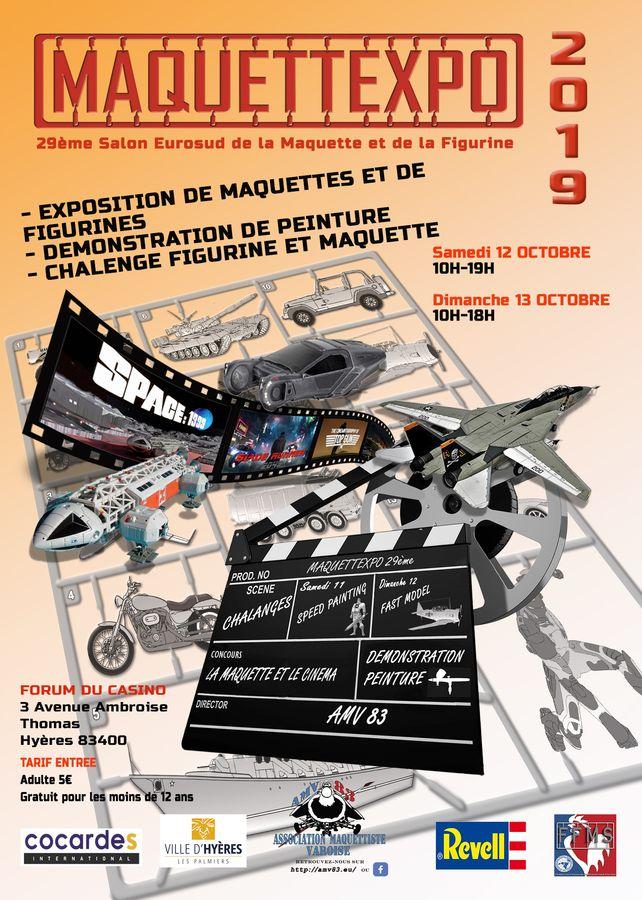 MAQUETTEXPO 2019 à Hyères ! Affich12