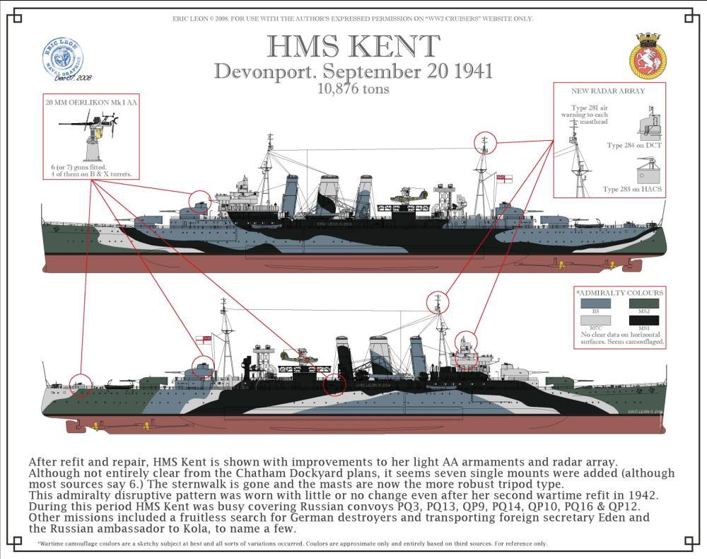Croiseur lourd HMS Kent - 1/350 - Trumpeter - Eric78 Kent_011