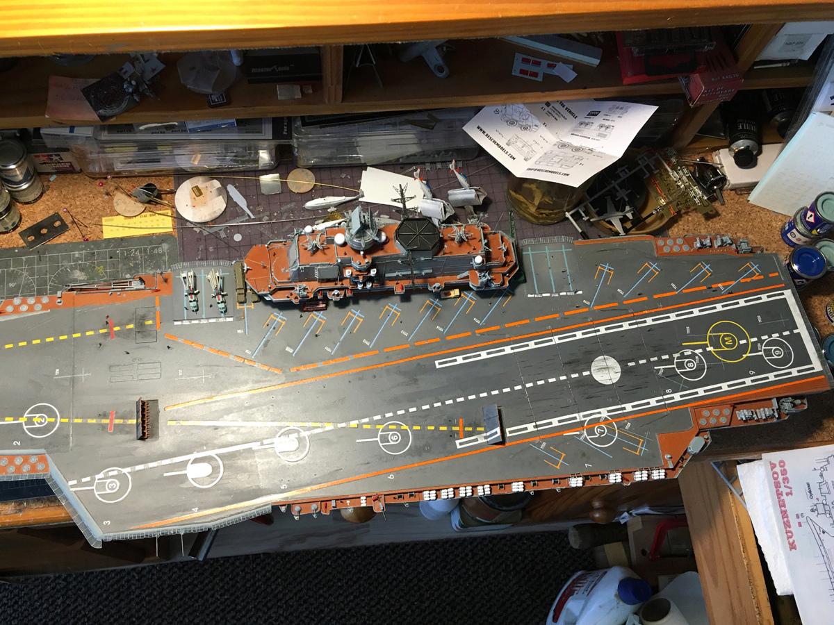 Admiral KUZNETSOV 1/350 UPGRADED! Kuz810
