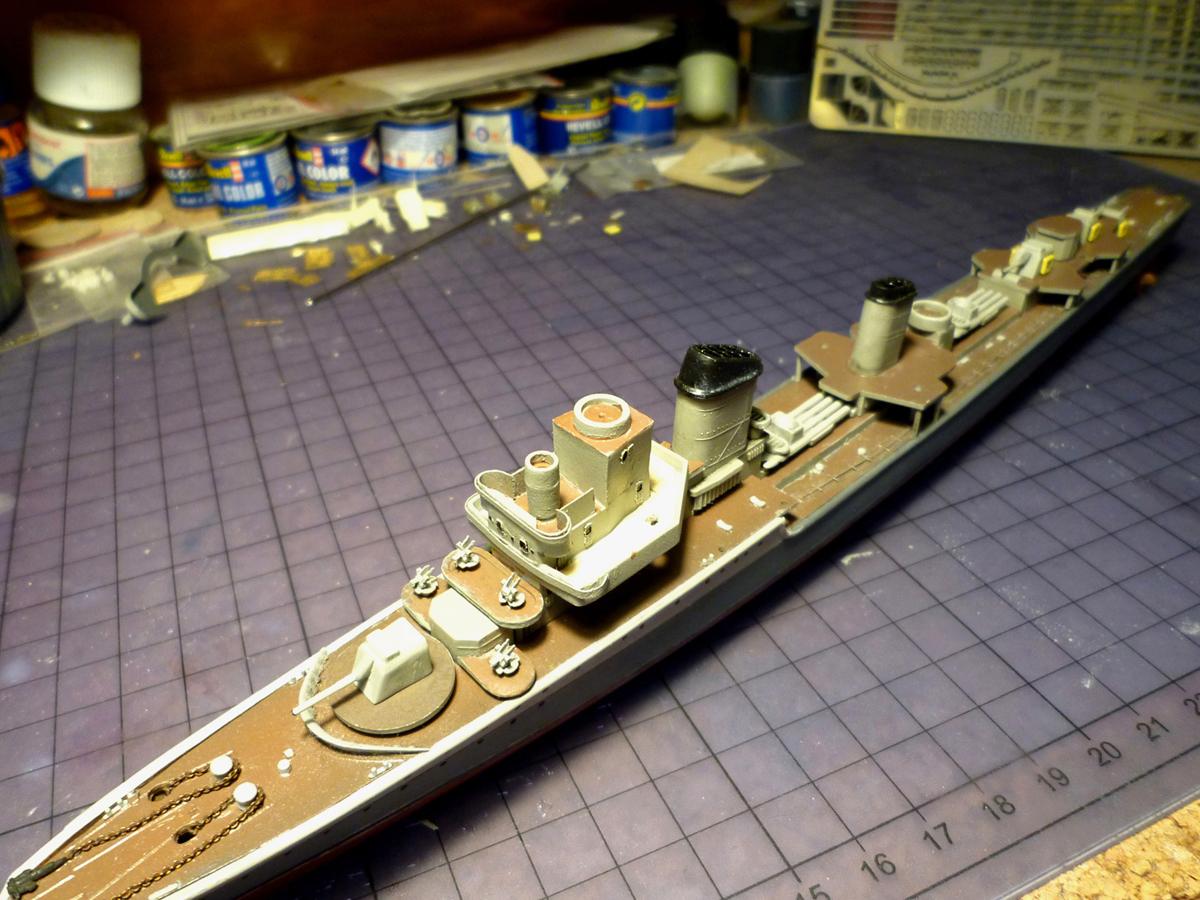 Montage du Contre-torpilleur Marceau 1/400  - Page 3 Marcea10