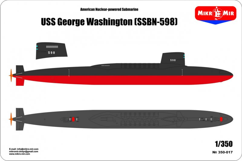 SSBN USS George Washington 1/350  Mm350010