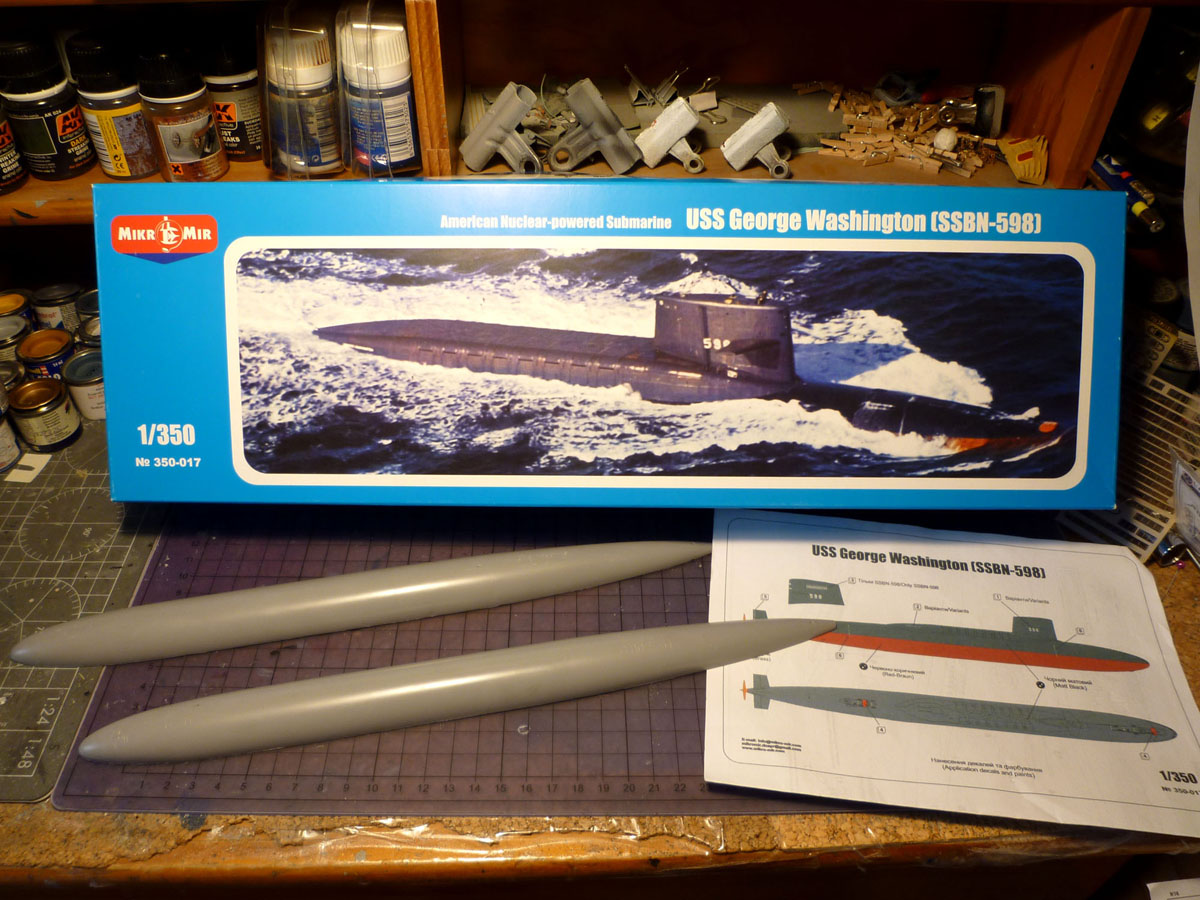 SSBN USS George Washington 1/350  Whashi10