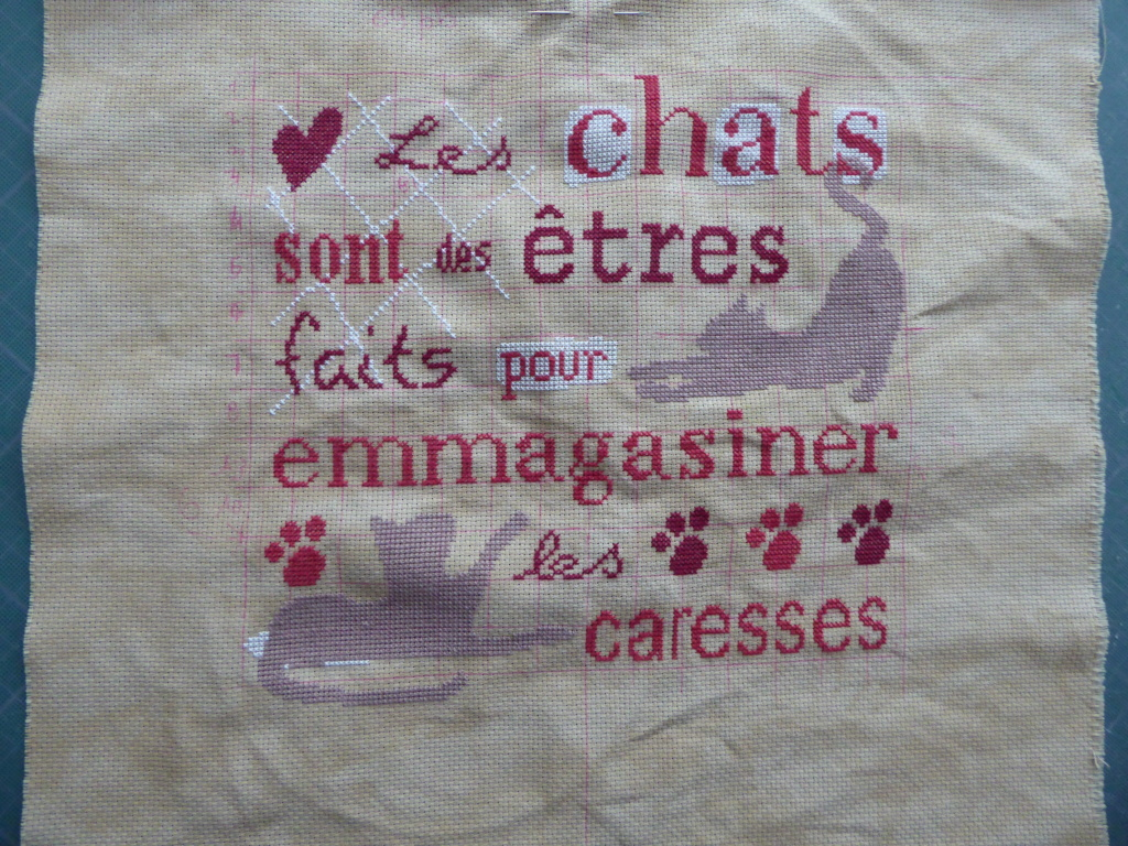 """Broderie """" Les chats sont.... Broder11"""