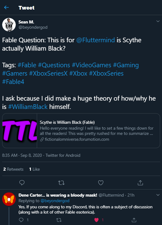 Scythe is William Black (Fable) Confir10