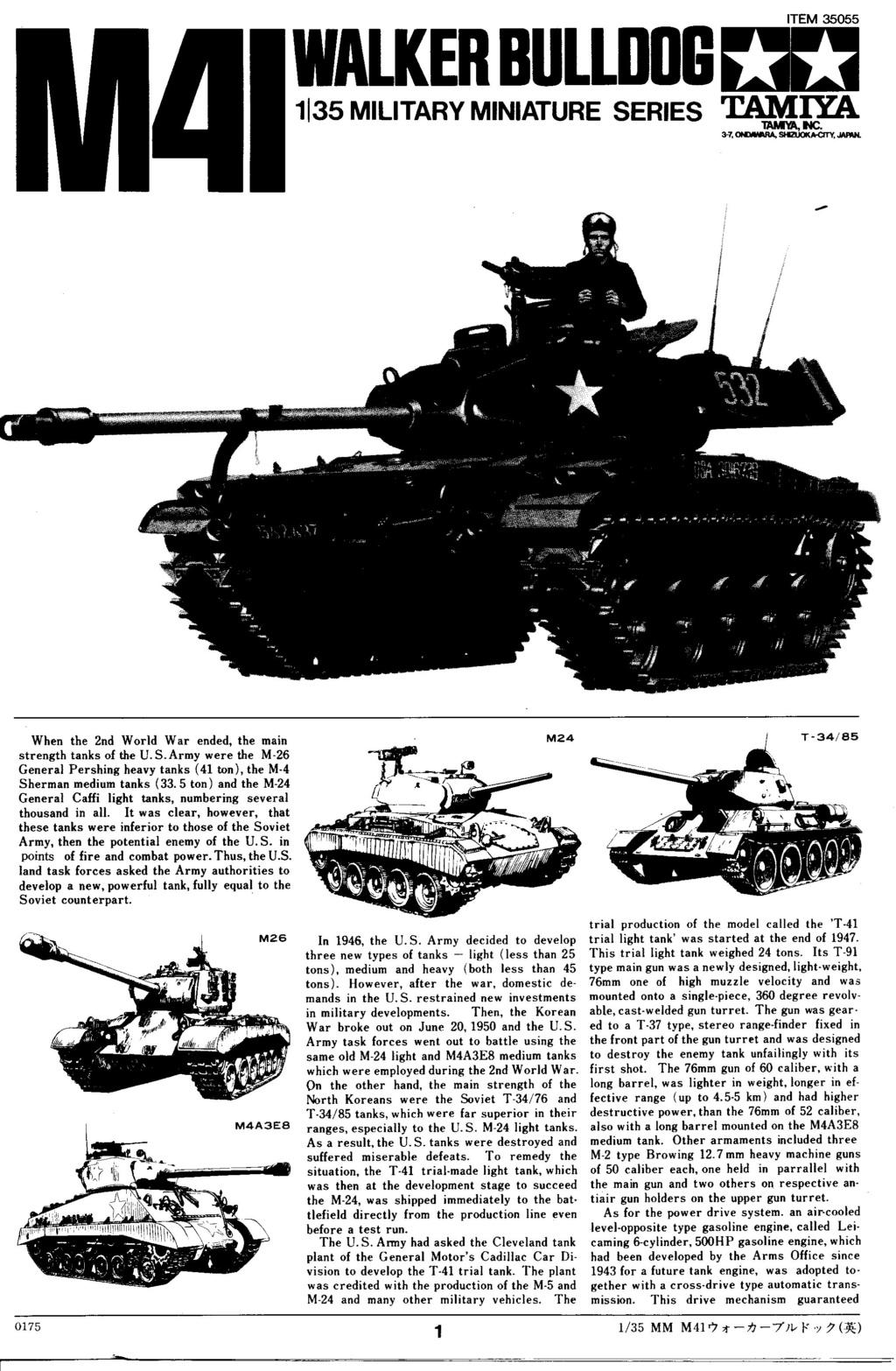 [TAMIYA] M41 WALKER BULLDOG  1/35 - REF : 35055 - NOTICE Maque354
