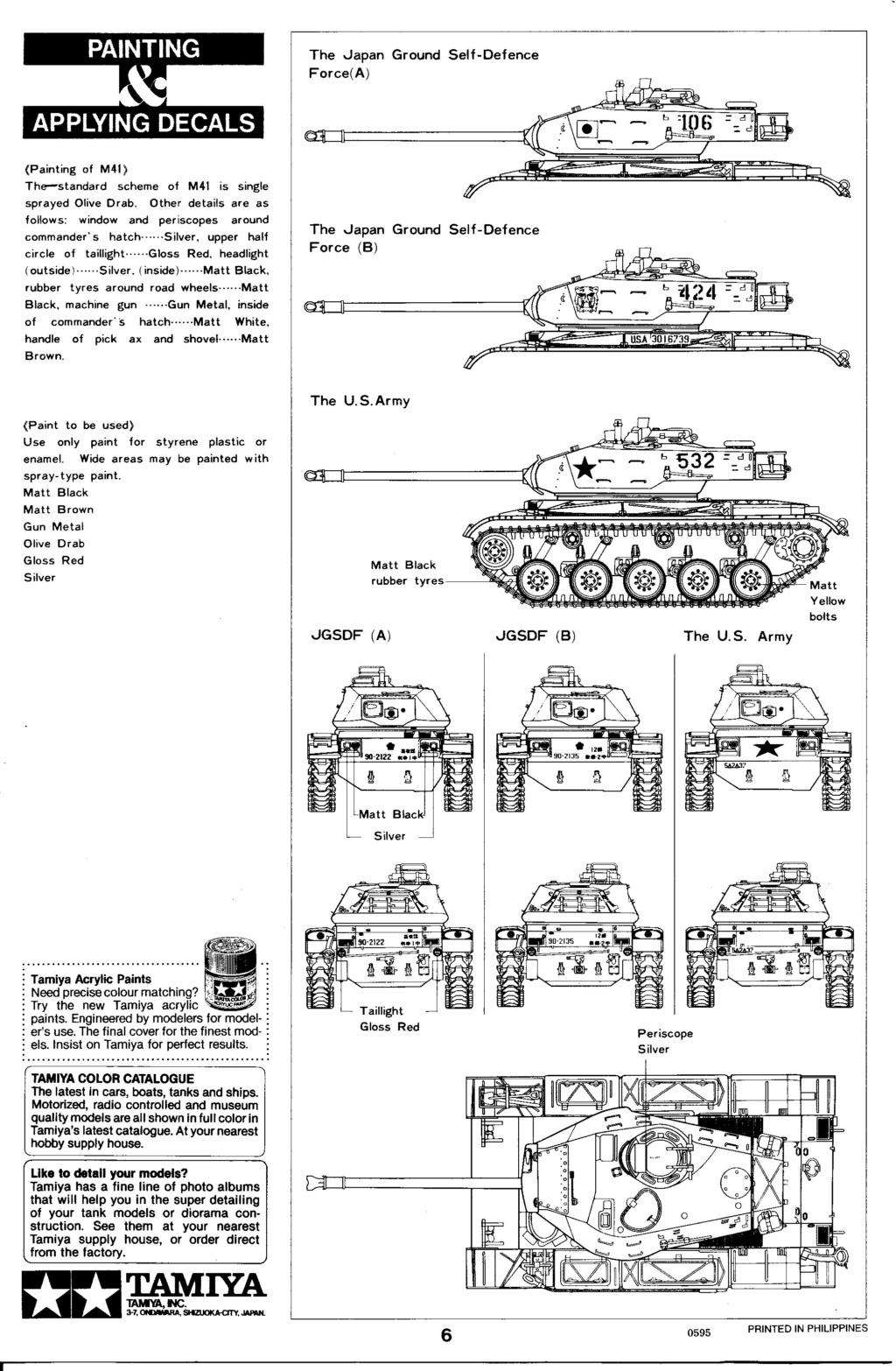 [TAMIYA] M41 WALKER BULLDOG  1/35 - REF : 35055 - NOTICE Maque358