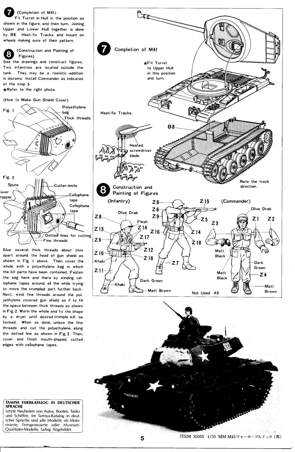 [TAMIYA] M41 WALKER BULLDOG  1/35 - REF : 35055 - NOTICE Maque359