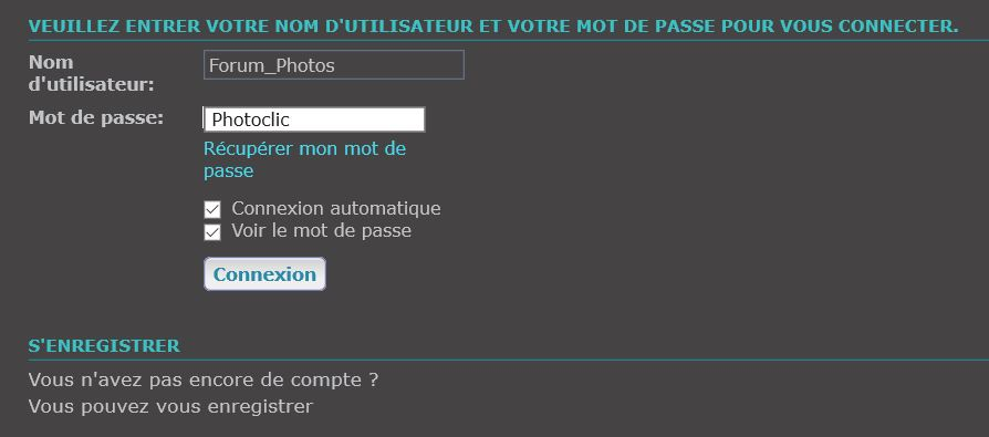 [TOUTES VERSIONS]Visualiser le mot de passe Captur43