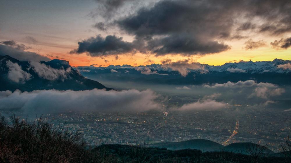 [Paysages] Lever de soleil sur Grenoble Sans_t12