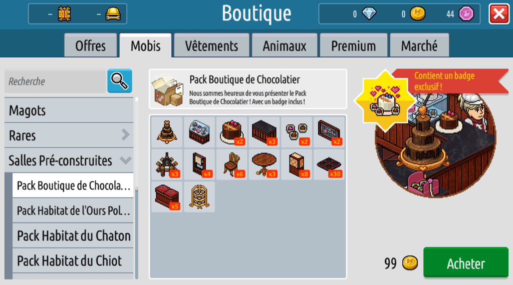 News Habbo - Pack Boutique de Chocolatier Xmse8z10