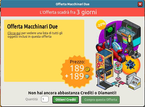Inserita Offerta Macchinari 2 su Habbo Scre1746