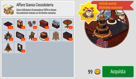 Reinserito affare stanza Cioccolateria in catalogo su Habbo Scre2182