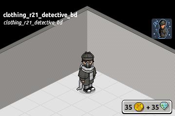 Outfit Detective all'opera raro in catalogo su Habbo Scre2399