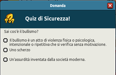 [IT] Campagna di Sicurezza Autunnale - Quiz sul Bullismo #1 Scree353