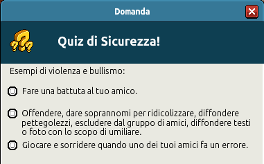 [IT] Campagna di Sicurezza Autunnale - Quiz sul Bullismo #1 Scree354