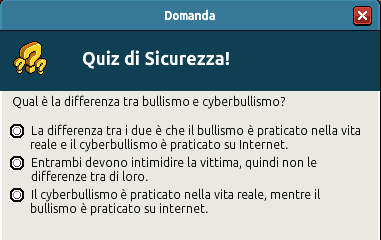 [IT] Campagna di Sicurezza Autunnale - Quiz sul Bullismo #1 Scree355