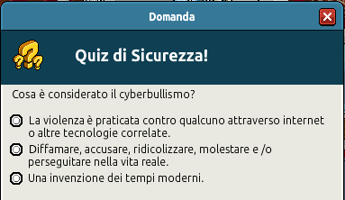 [IT] Campagna di Sicurezza Autunnale - Quiz sul Bullismo #1 Scree357