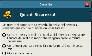 [IT] Campagna di Sicurezza Autunnale - Quiz sul Bullismo #1 Scree358
