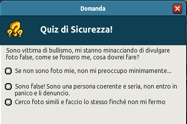 [IT] Campagna di Sicurezza Autunnale - Quiz sul Bullismo #1 Scree359