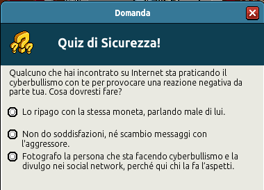 [IT] Campagna di Sicurezza Autunnale - Quiz sul Bullismo #1 Scree360