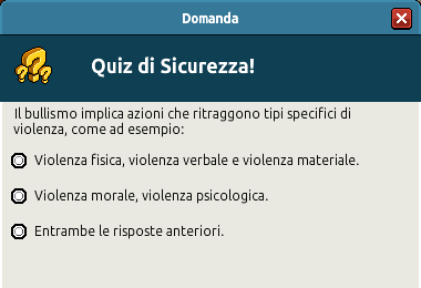 [IT] Campagna di Sicurezza Autunnale - Quiz sul Bullismo #1 Scree361