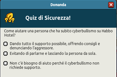 [IT] Campagna di Sicurezza Autunnale - Quiz sul Bullismo #1 Scree362