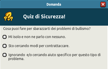 [IT] Campagna di Sicurezza Autunnale - Quiz sul Bullismo #1 Scree363