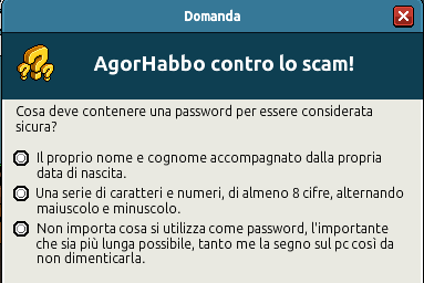 [IT] Quiz sicurezza AgorHabbo contro lo scam in Caffetteria Scree734