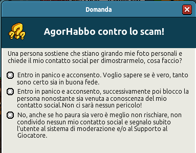 [IT] Quiz sicurezza AgorHabbo contro lo scam in Caffetteria Scree736