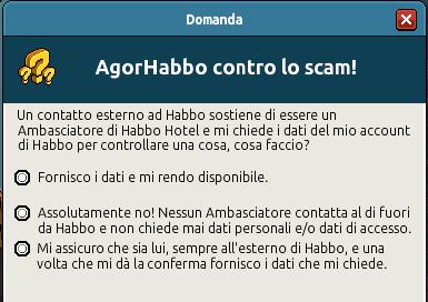 [IT] Quiz sicurezza AgorHabbo contro lo scam in Caffetteria - Pagina 2 Scree737