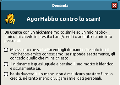 [IT] Quiz sicurezza AgorHabbo contro lo scam in Caffetteria Scree738