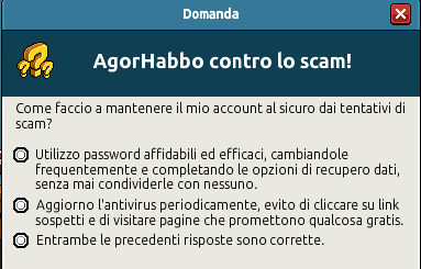 [IT] Quiz sicurezza AgorHabbo contro lo scam in Caffetteria Scree740