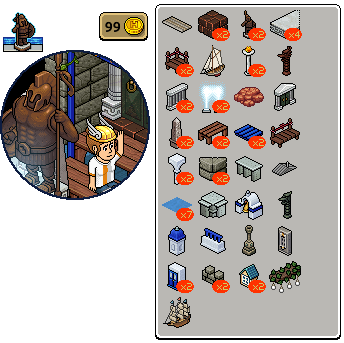 [ALL] Inserito affare stanza Colosso di Rodi in catalogo su Habbo Scree896