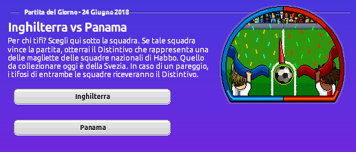 [ALL] Mondiali di Calcio 2018 su Habbo: Inghilterra vs Panama Screen58