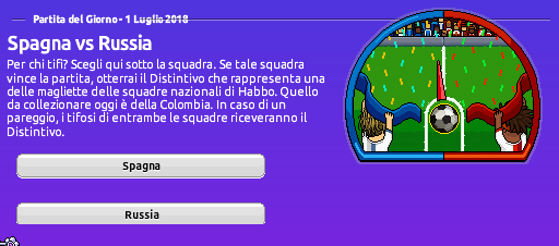 [ALL] Mondiali di Calcio 2018 su Habbo: Spagna vs Russia Screen68