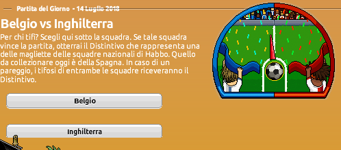 [ALL] Mondiali di Calcio 2018 su Habbo: Belgio vs Inghilterra Screen98