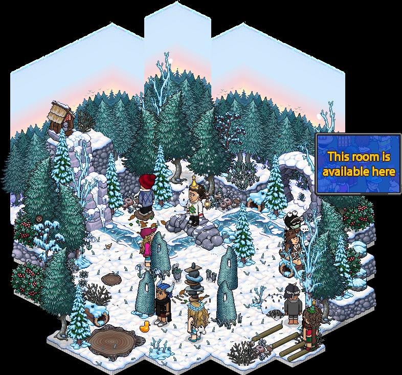 Affare Stanza Inverno nella Stonehenge di Habbo in catalogo Winter10